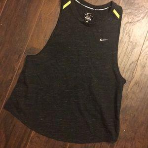Nike Dri Fit Slouchy Tank with Split Open Back